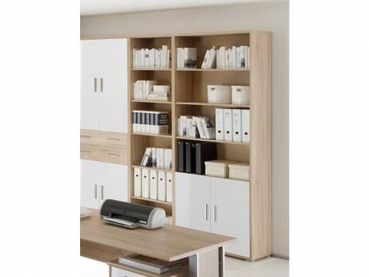 OFFICE LINE Schrank 2 Türen, Material Dekorspanplatte, Eiche sonomafarbig/weiss