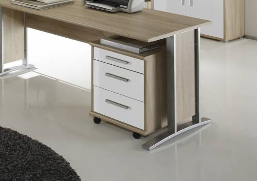 Office Line Rollcontainer Material Dekorspanplatte Eiche
