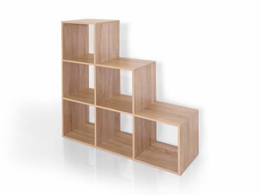 moderne treppe bucherregal, lalena regal / treppe eiche sonoma dekor, Design ideen