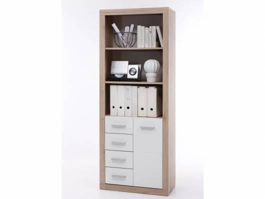 CHESTER Büroschrank/Regal B9, Material Dekorspanplatte, Eiche sanremofarbig/weiss