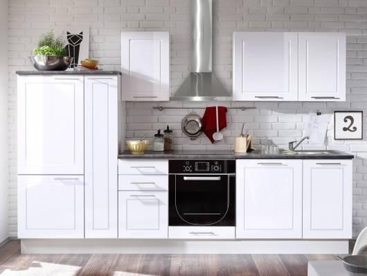 SOFIE Küchenblock, Material Dekorspanplatte, weiss Hochglanz