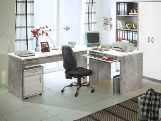 OFFICE COMPACT Winkelkombination, Material Dekorspanplatte