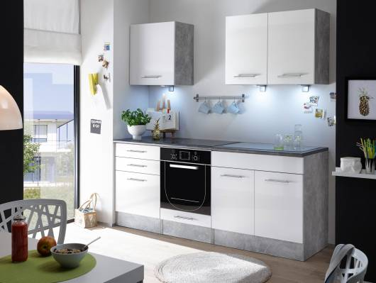 SALITO Mini Küche Dekor Beton/weiß