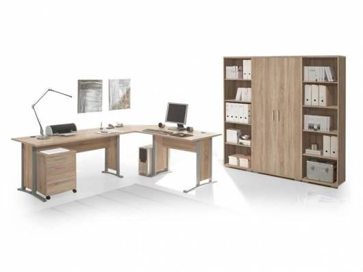 OFFICE LINE Heimbüro 7tlg, Material Dekorspanplatte, Eiche sonomafarbig