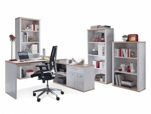 ROSINA Komplett Büro, Material Dekorspanplatte, Sibiu Lärche Nachbildung