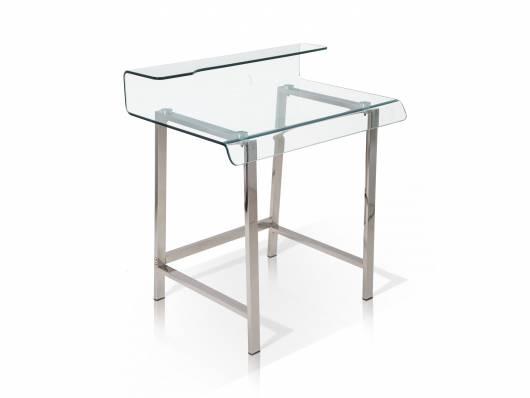 MILLAR Schreibtisch Beistelltisch, Material Klarglas