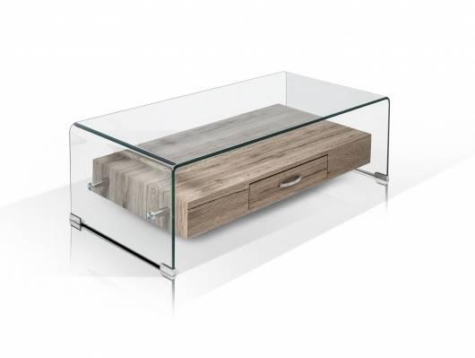 Lisa Couchtisch Glas 110x35 Cm