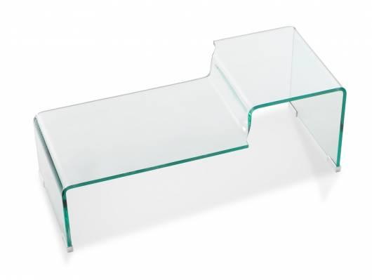 TAMI Couchtisch, Material Klarglas