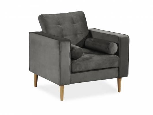 GLAMMY Sessel mit Samtbezug, Füße Buche massiv