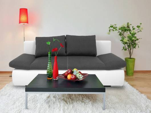 oran schlafsofa jugendsofa sofa weiss anthrazit. Black Bedroom Furniture Sets. Home Design Ideas
