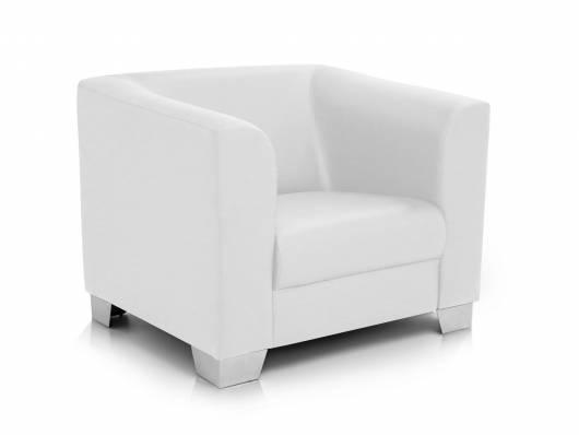 chicago sessel ledersessel weiss. Black Bedroom Furniture Sets. Home Design Ideas