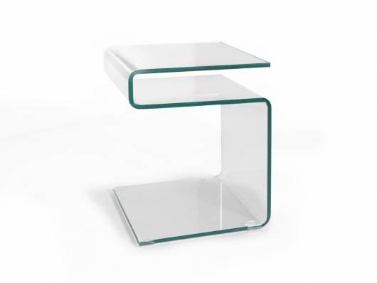 SUSY Beistelltisch, Material Klarglas