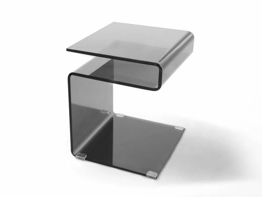 SUSY Beistelltisch, Material Glas, schwarz