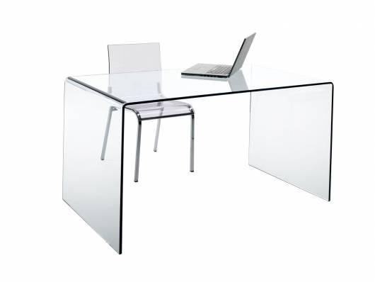 CHANDRA Schreibtisch, Material Glas