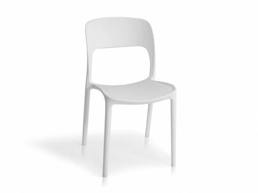 Florian Kunststoffstuhl Material Kunststoff Weiss