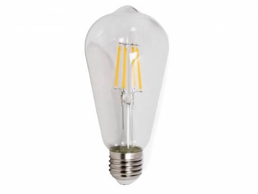 5er Set Glühbirnen schmal, E27, 4 Watt, warmweiss
