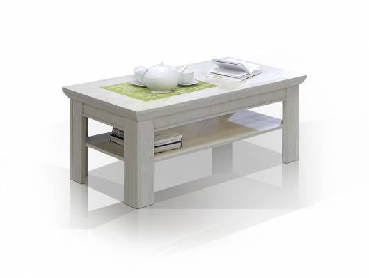 KADA Couchtisch, Material MDF, weiss/piniefarbig