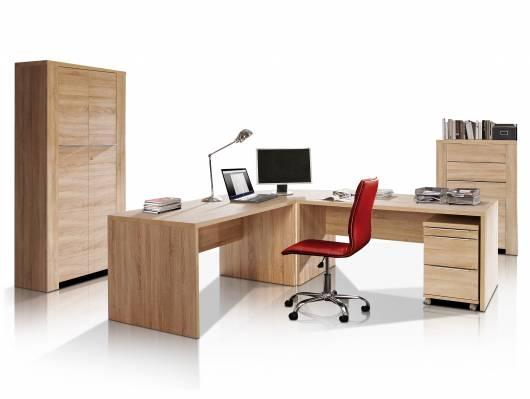 CAMILLO I Komplett-Büro, Material Dekorspanplatte, Eiche sonomafarbig