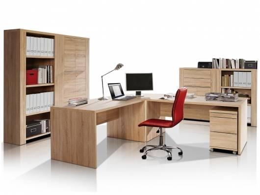 CAMILLO II Komplett-Büro, Material Dekorspanplatte, Eiche sonomafarbig