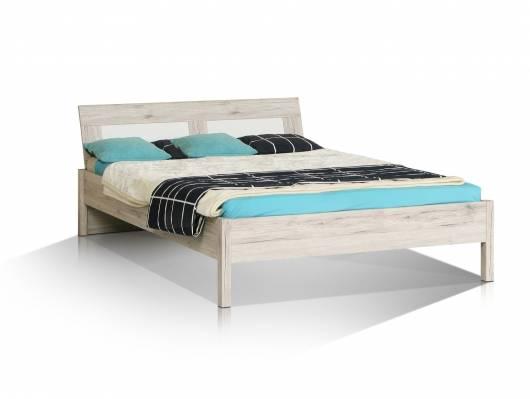 BEAT Jugendbett, Material Dekorspanplatte, sandeichefarbig/weiss