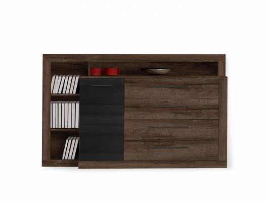 ERLIN Sideboard, Material Dekorspanplatte, schlammeichefarbig