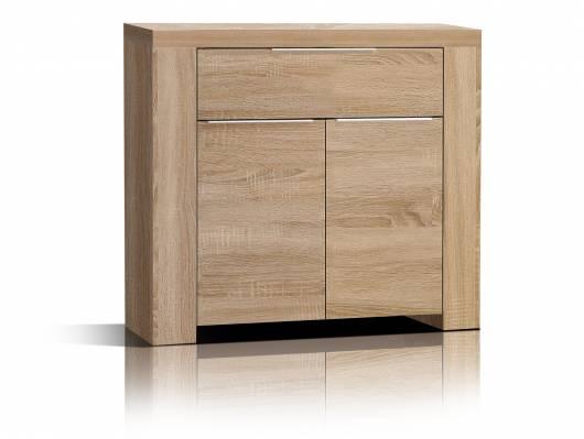 CAMILLO Kommode 2 Türen und 1 Schubkasten, Material Dekorspanplatte, Eiche sonomafarbig