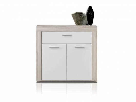 ZAMBA Schuhschrank, Material Dekorspanplatte, sandeichefarbig/weiss