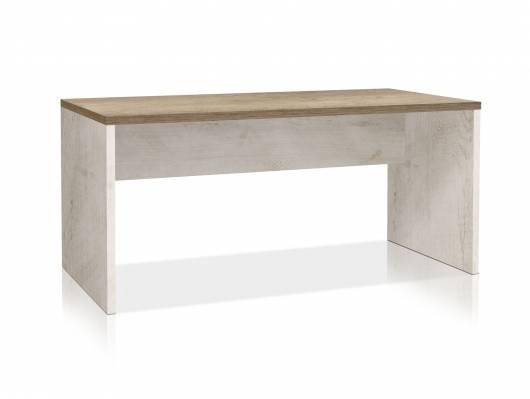 DAGUR Schreibtisch, Material Dekorspanplatte, weiss piniefarbig/eichefabig Antik