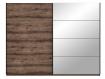 JESOLO Schiebetürenschrank, Material Dekorspanplatte, schlammeichefarbig