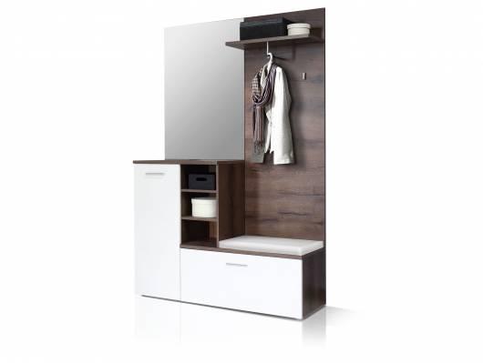 HAMILTON Garderobe, Material Dekorspanplatte, schlammeichefarbig / weiss