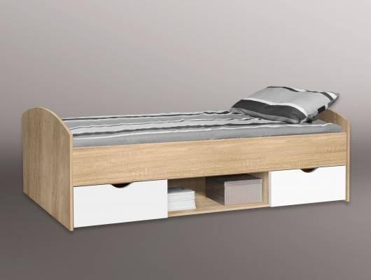 LILLY Jugendbett / Funktionsbett 90x200 cm, Material Dekorspanplatte