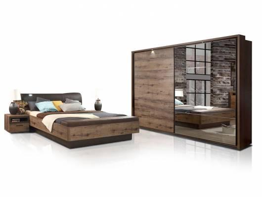 JESOLO Komplett Schlafzimmer, Material Dekorspanplatte, schlammeichefarbig