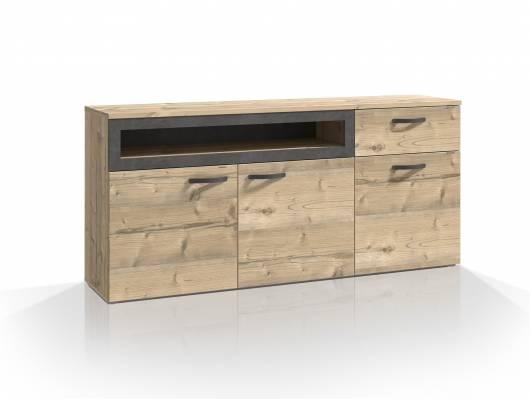 KALIMA Sideboard II, Material Dekorspanplatte, fichtefarbig/betonfarbig