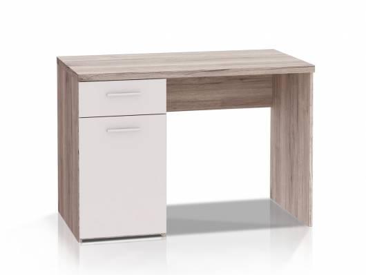 WALDY Schreibtisch, Material Dekorspanplatte, sandeichefarbig/weiss