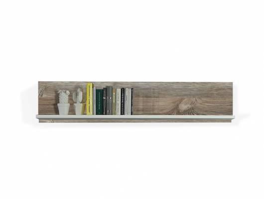 BELMIRA Wandregal, Material Dekorspanplatte, weiss/Picea kieferfarbig