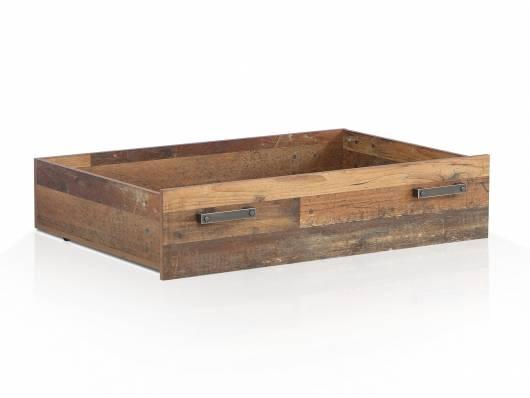 CASSIA Bettschubkasten für Bett 140x200 cm, Material Dekorspanplatte, Old Wood Vintage