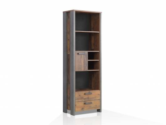 CASSIA Regal, Material Dekorspanplatte, Old Wood Vintage/betonfarbig