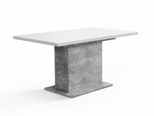 EVELINA Esstisch / Ausziehtisch mit Säulenfuß, Material Dekorspanplatte