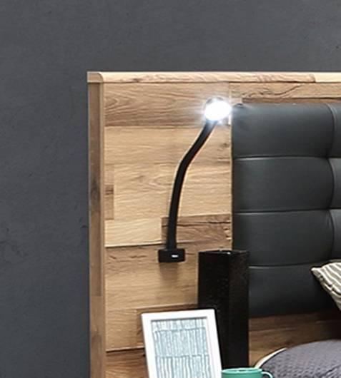 Bett Beleuchtung mit USB Anschluss 2er Set Gehäuse schwarz