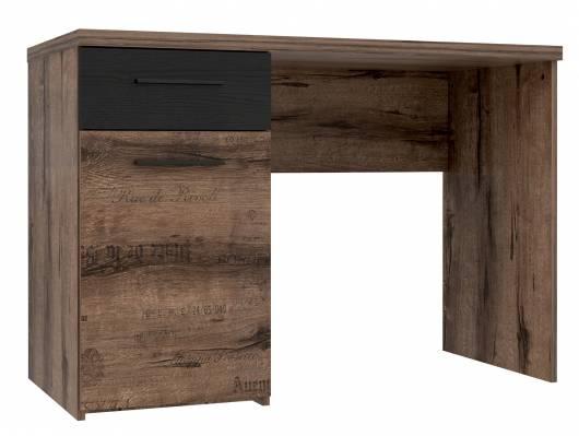 JESOLO Schreibtisch, Material Dekorspanplatte, schlammeichefarbig