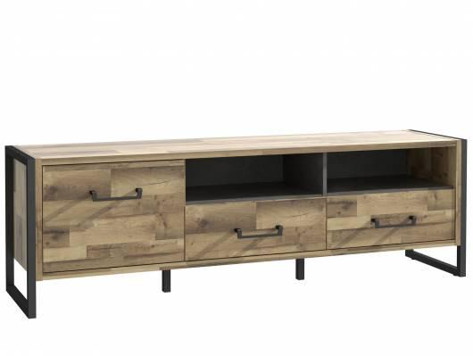 HANIKA TV-Unterteil, Material Dekorspanplatte, eichefarbig/betonfarbig
