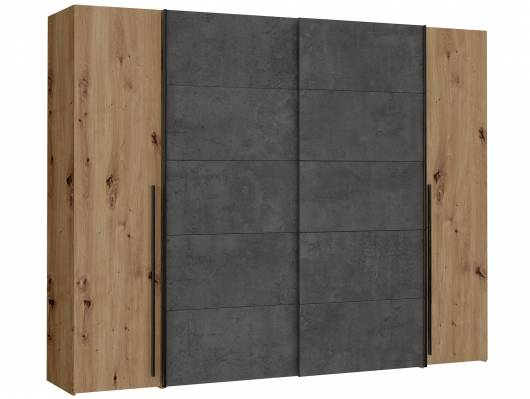 NEILA Drehtürenschrank / Schiebetürenschrank, Material Dekorspanplatte