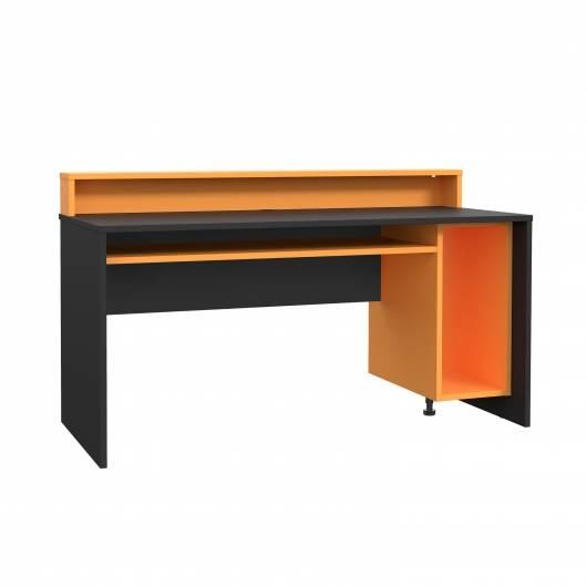 TEZO II Gaming Schreibtisch, Material Dekorspanplatte, schwarz/orange