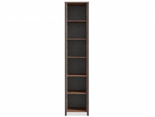 CASSIA Büroregal 6 Böden schmal, Material Dekorspanplatte, Old Wood Vintage/betonfarbig