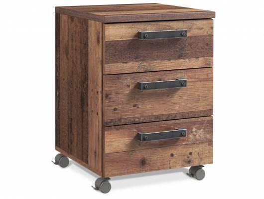 CASSIA Rollcontainer, Material Dekorspanplatten, Old Wood Vintage/betonfarbig