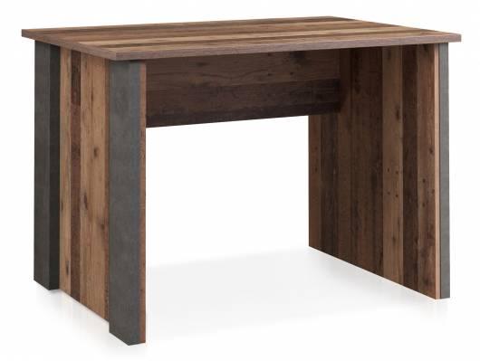 CASSIA Schreibtisch 103 cm, Material Dekorspanplatte, Old Wood Vintage/betonfarbig