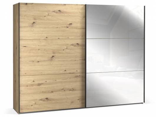 TEMMY Schwebetürenschrank, Material Spanplatte, Artisan Eiche Nachbildung