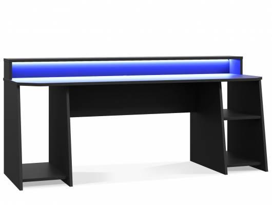 TEZO BIG II Gaming Schreibtisch 200 cm, Material Dekorspanplatte, schwarz