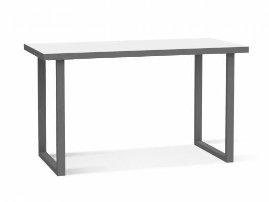 KALINA Schreibtisch 120 cm, Material Dekorspanplatte, weiss/grau