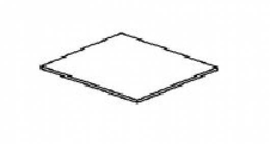ROMAN 1 Stk. Einlegeboden klein (weiß gewachst)